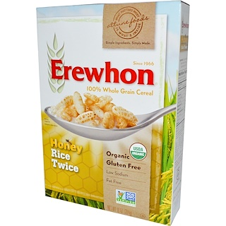 Erewhon, Honey Rice Twice Cereal, 10 oz (284 g)