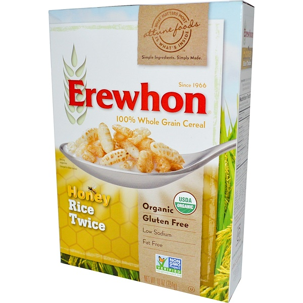 Erewhon, Рисовые хлопья с медом 10 унции (284 г)