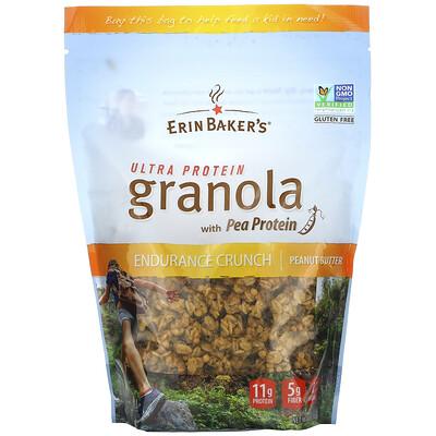 Купить Erin Baker's Ultra Protein Granola with Pea Protein, Peanut Butter, 12 oz (340 g)