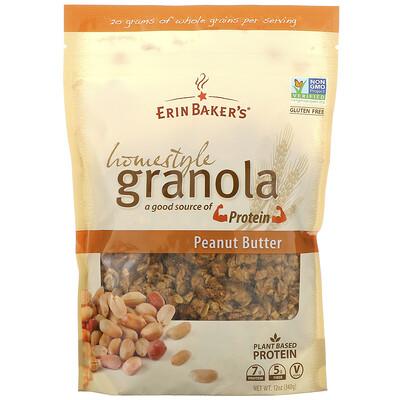 Купить Erin Baker's Домашная гранола, с арахисовым маслом, 12 унций (340 г)