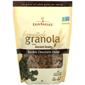 Erin Baker's, Homestyle Granola with Ancient Grains, Double Chocolate Chunk, 12 oz (340 g)'