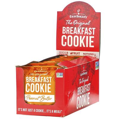 Купить Erin Baker's The Original Breakfast Cookie, Peanut Butter, 12 Cookies, 3 oz (85 g) Each
