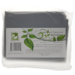 Earth's Natural Alternative, Compostable Tablecloth, Black, 2 Pack
