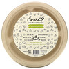 """Earth's Natural Alternative, 10"""" 3- Compartment Compostable Plate, 50 Pack"""