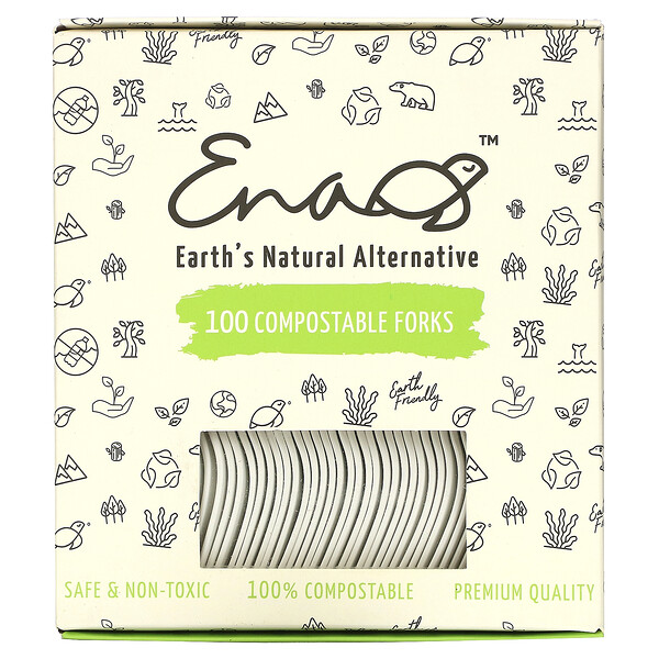 Compostable Forks, 100 Count