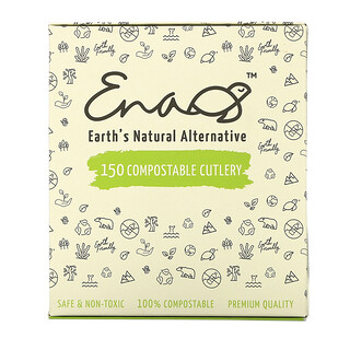 Earth's Natural Alternative, Compostable Cutlery, 150 Count