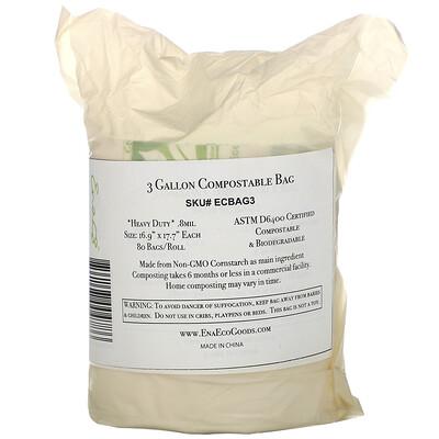 Купить Earth's Natural Alternative биоразлагаемый мешок на 11л (3галлона), 80мешков