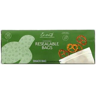 Earth's Natural Alternative, 可降解可再次密封袋,食品袋,50 個