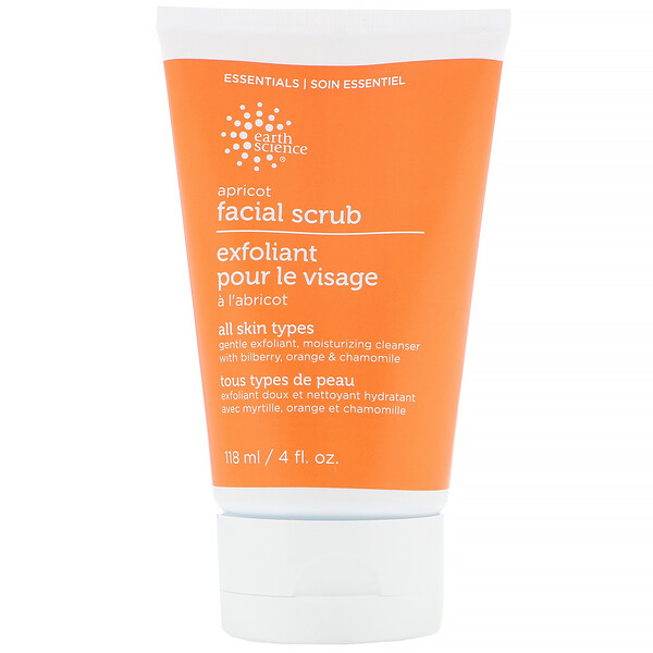 Earth Science, Facial Scrub, Apricot, 4 fl oz (118 ml)