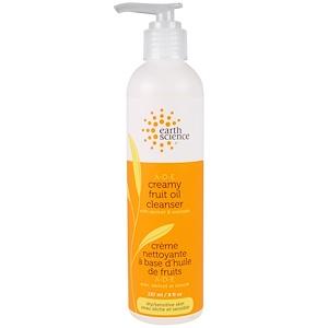 Earth Science, Очищающее средство A-D-E Creamy Fruit Oil Cleanser, cухая/чувствительная кожа, 237 мл (8 жидких унций) инструкция, применение, состав, противопоказания