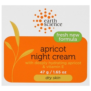 Earth Science, Apricot Night Cream, 1.65 oz (47 g)