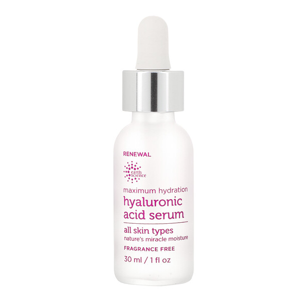 Earth Science, Maximum Hydration, Hyaluronic Acid Serum, 1 fl oz (30 ml)