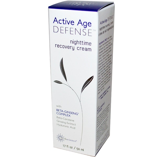 Earth Science, Active Age Defense, Nighttime Recovery Cream, 1.7 fl oz (50 ml) (Discontinued Item)