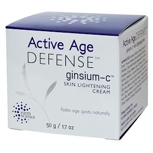 Ёрт саэнс, Active Age Defense, Ginsium-C, Skin Lightening Cream, 1.7 oz (50 g) отзывы