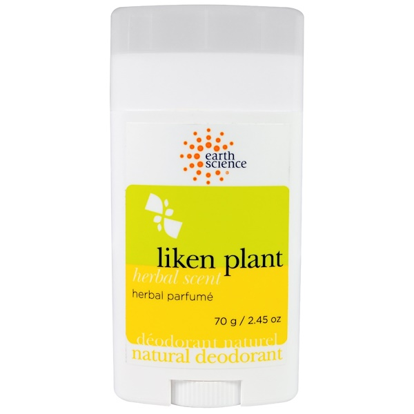 Natural Deodorant, Liken Plant, Herbal Scent, 2.45 oz (70 g)