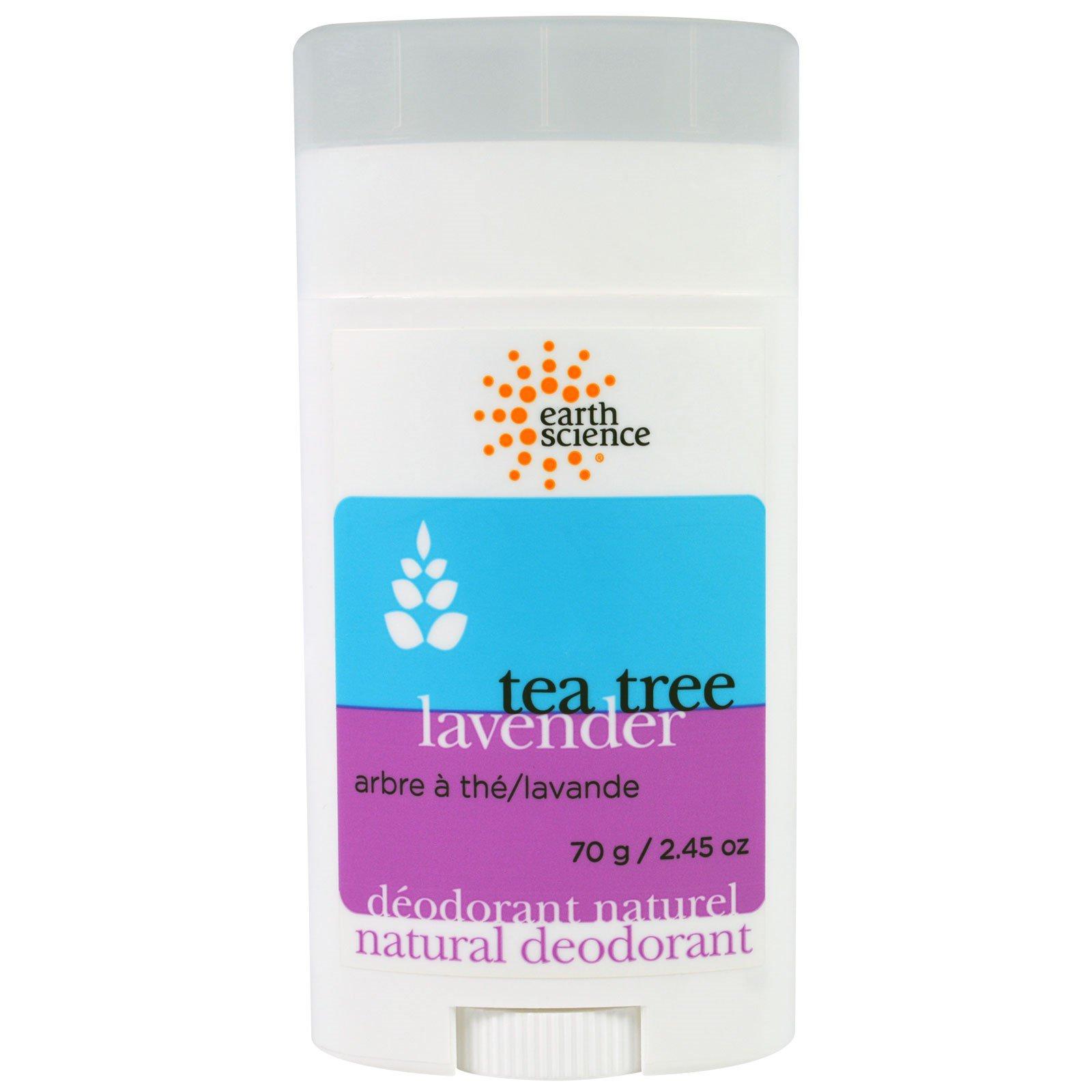 Earth Science, Натуральный дезодорант, чайное дерево, лаванда, 70 г