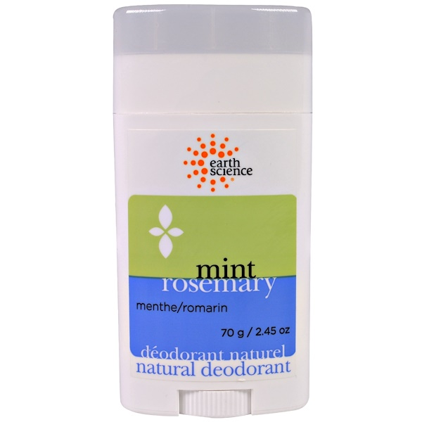 Earth Science, Natural Deodorant, Mint Rosemary, 2.45 oz (70 g)