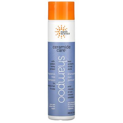 Earth Science Ceramide Care, Shampoo, Fragrance Free, 10 fl oz (295 ml)