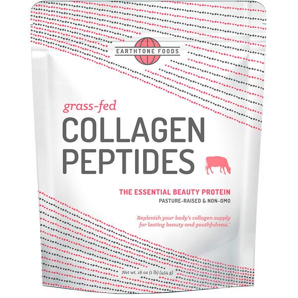 Earthtone Foods, Коллагеновые пептиды из животных на травяном выпасе, без ароматизаторов, 16 унций (454 г)