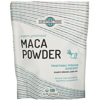 Купить Earthtone Foods Organic Gelatinized Maca Powder, 16 oz (454 g)