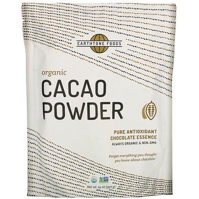Купить Earthtone Foods Organic Cacao Powder, 14 oz (397 g)