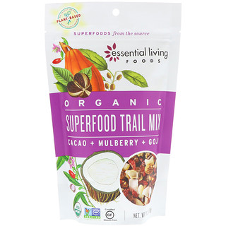 Essential Living Foods, Organic, Superfood Trail Mix, Cacao + Mulberry + Goji, 6 oz (170 g)