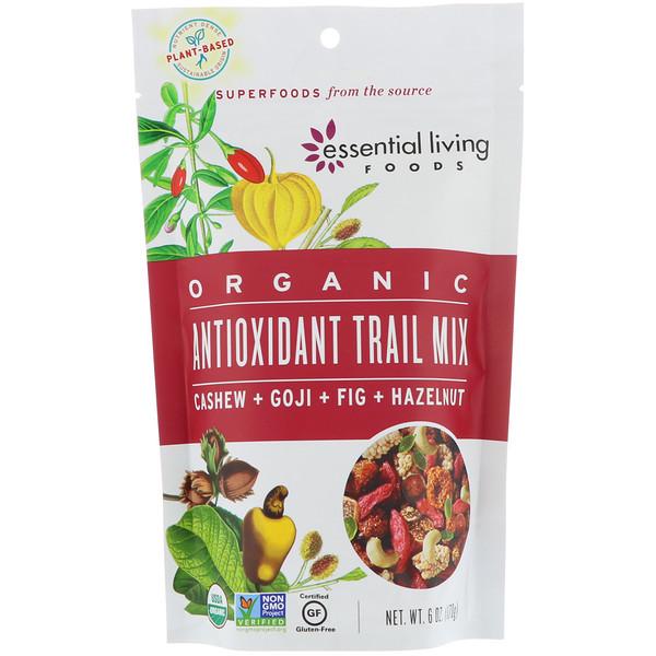 Essential Living Foods, Organic, Antioxidant Trail Mix, Cashew + Goji + Fig + Hazelnut, 6 oz (170 g) (Discontinued Item)