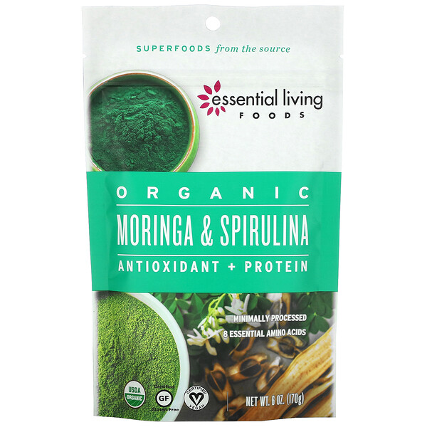 Organic Moringa & Spirulina, 6 oz (170 g)