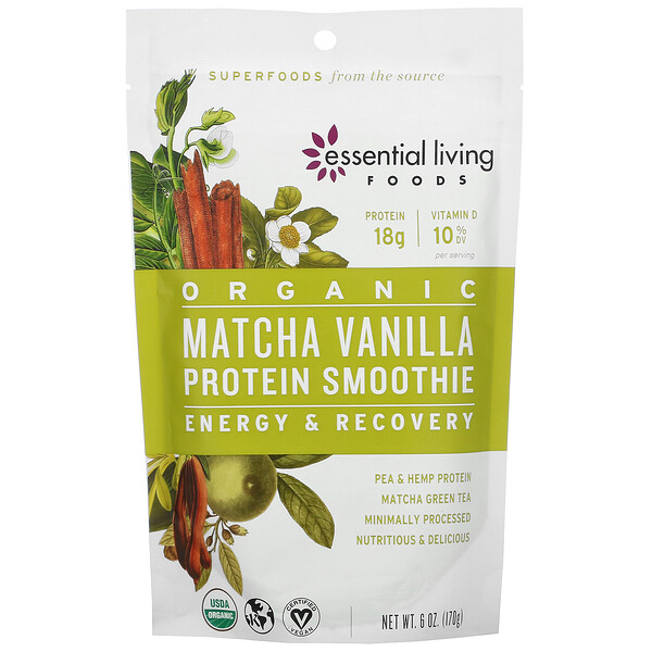 Organic Matcha Vanilla Protein Smoothie, 6 oz (170 g)