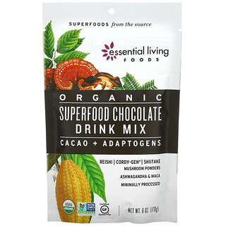 Essential Living Foods, Organic Superfood Chocolate Drink Mix, 6 oz (170 g)