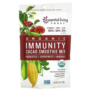 Essential Living Foods, Organic Immunity Cacao Smoothie Mix, 6 oz (170 g)