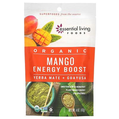 Купить Essential Living Foods Organic Mango Energy Boost, Yerba Mate & Guayusa, 4 oz (113 g)