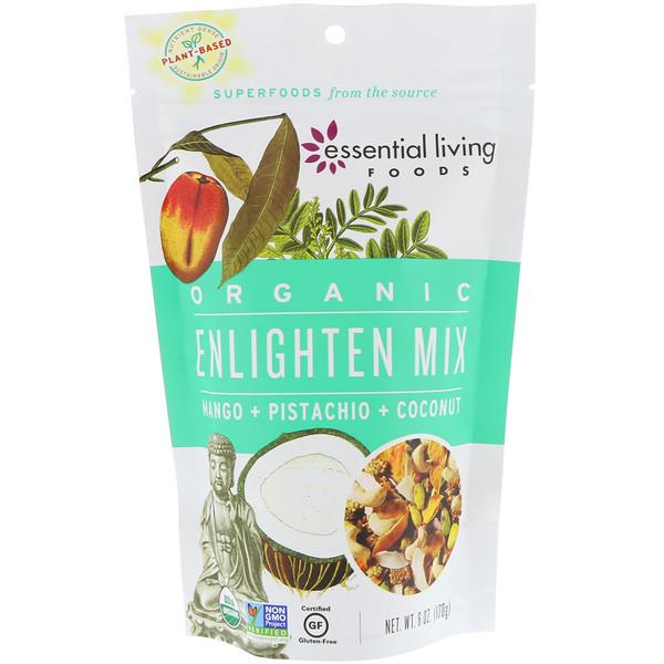 Essential Living Foods, オーガニック、エンライトンミックス、マンゴ+ピスタチオ+ココナッツ、6オンス(170g)