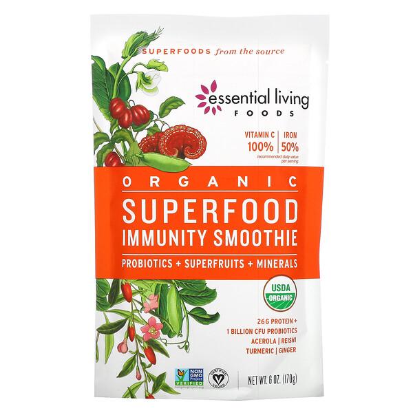 Organic, Superfood Immunity Smoothie Mix, Probiotics + Superfruits + Minerals, 6 oz (170 g)