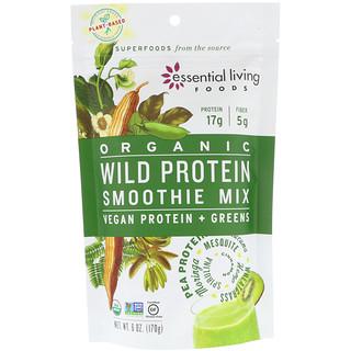 Essential Living Foods, Organic, Wild Protein Smoothie Mix, Vegan Protein + Greens, 6 oz (170 g)