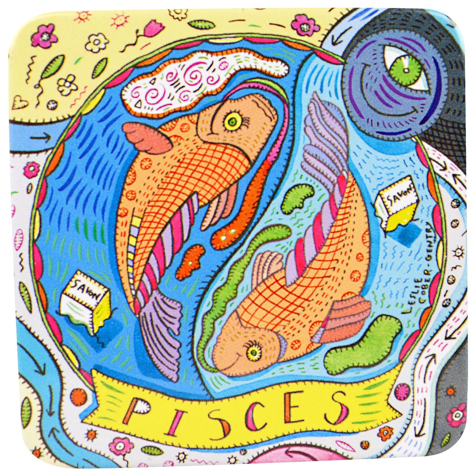 """European Soaps, LLC, """"Пре-де-Прованс"""", мыло из коллекции """"Зодиак"""", Рыбы, 3,5 унции (100 г)"""