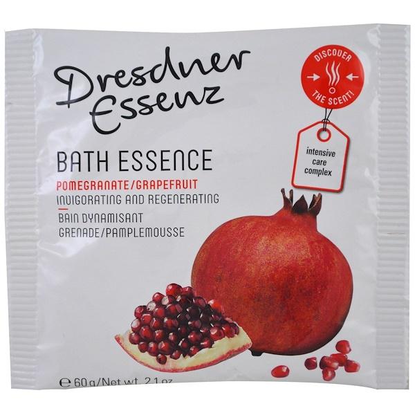 European Soaps, LLC, Dresdner Essenz,沐浴精華素,石榴葡萄柚,2、1 oz (60 g)