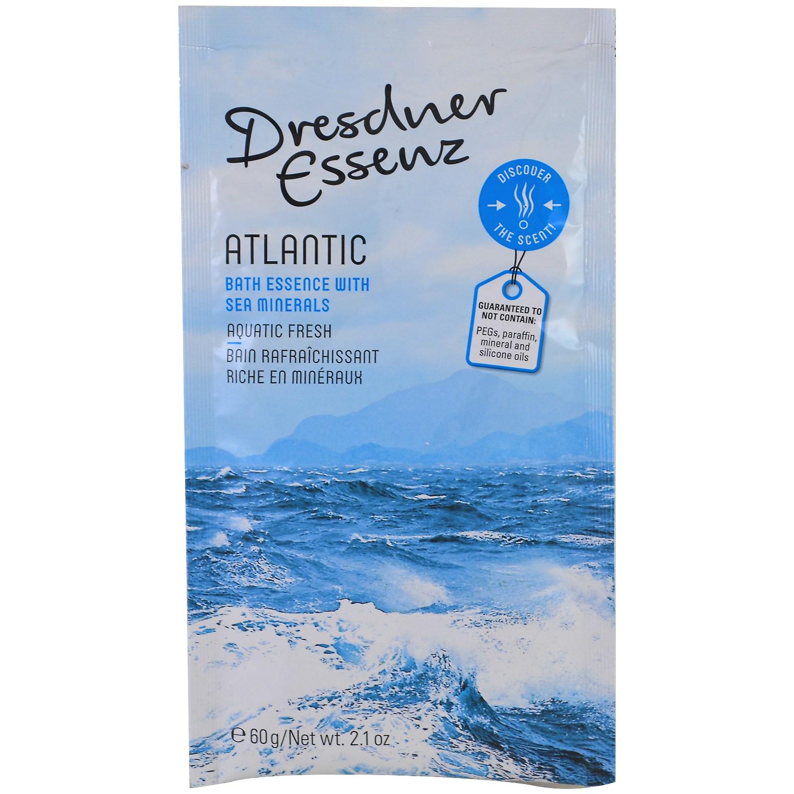 European Soaps, LLC, Dresdner Essenz, эссенция для ванн, Атлантика, 2,1 унции (60 г)