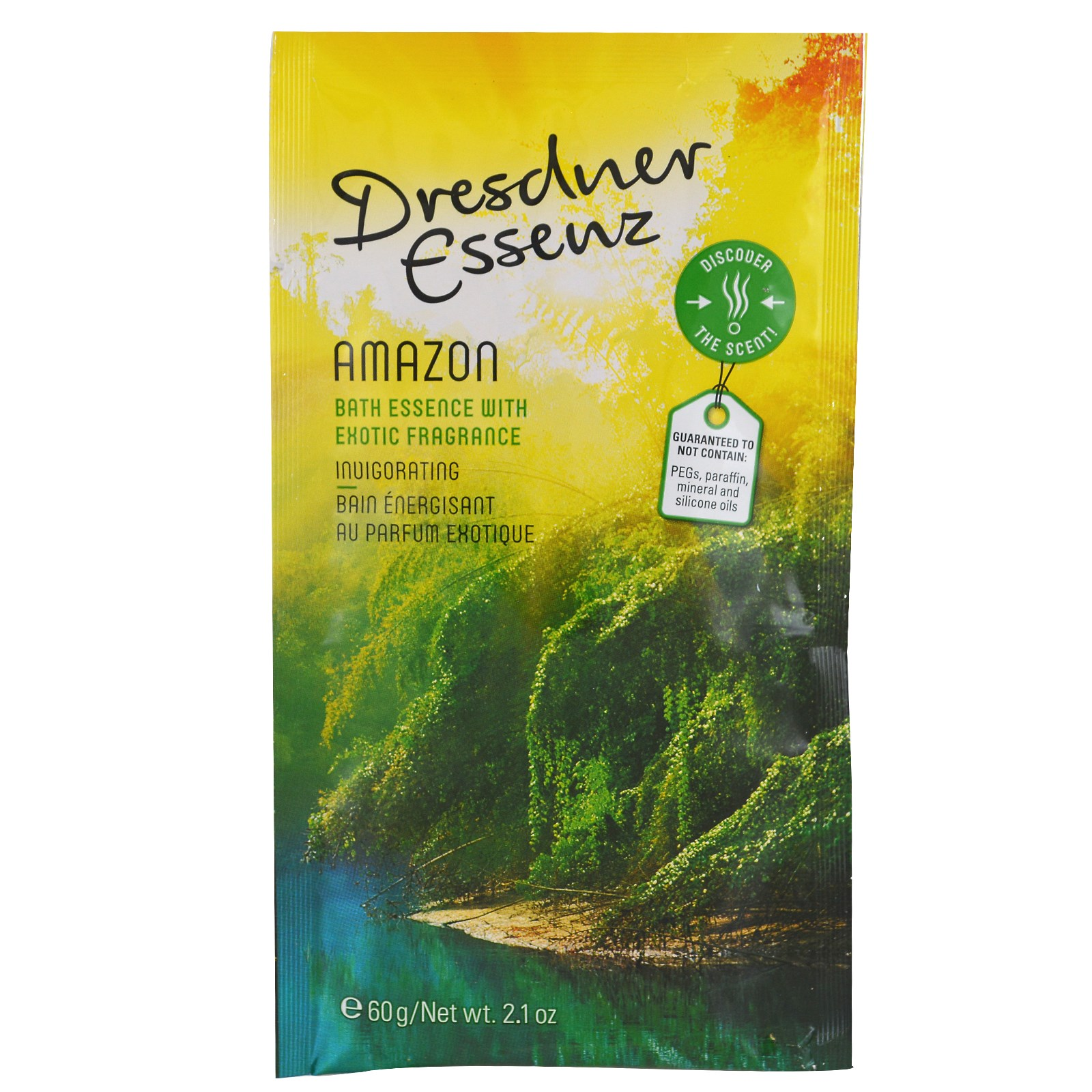 European Soaps, LLC, Dresdner Essenz, соль для ванн, Амазонка, 2,1 унции (60 г)