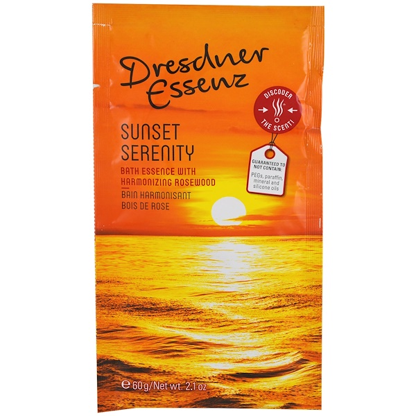 European Soaps, LLC, Dresdner Essenz, Bath Essence, Sunset Serenity, 2.1 oz (60 g) (Discontinued Item)