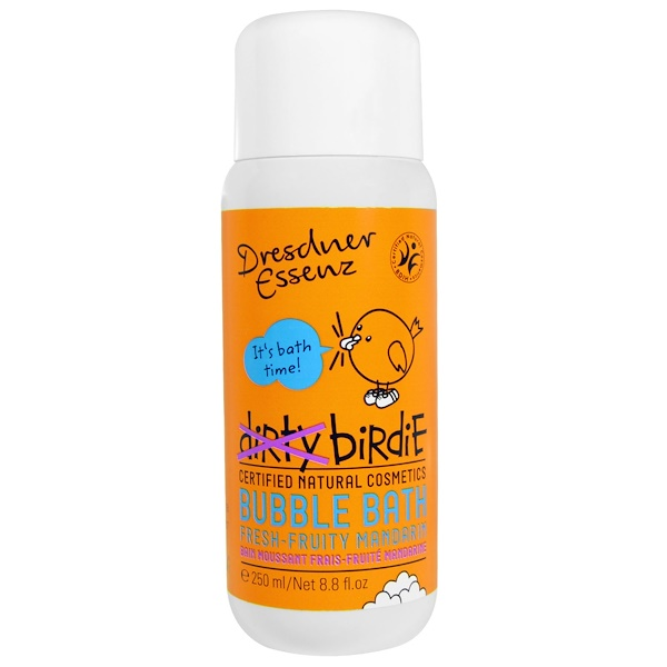 European Soaps, Dresdner Essenz, Dirty Birdie Bubble Bath, Fresh-Fruity Mandarin, 8.8 fl oz (250 ml) (Discontinued Item)