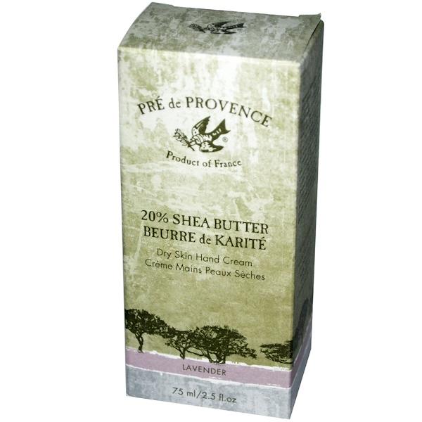 European Soaps, Pre de Provence, Hand Cream, Lavender, 2.5 fl oz (75 ml) (Discontinued Item)