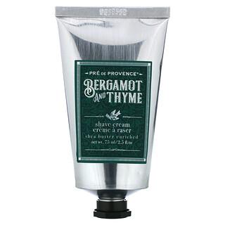 European Soaps, Shave Cream, Bergamot and Thyme, 2.5 fl oz (75 ml)