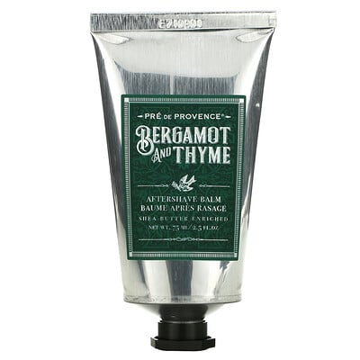European Soaps Aftershave Balm, Bergamot and Thyme, 2.5 fl oz (75 ml)