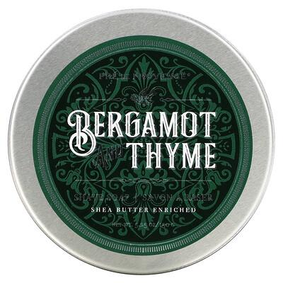 European Soaps Shave Soap, Bergamot and Thyme, 5.25 oz (150 g)