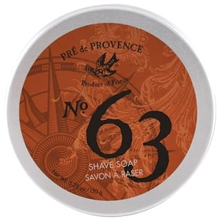 European Soaps, LLC, Pre de Provence, No. 63 Shave Soap, 5.25 oz (150 g)