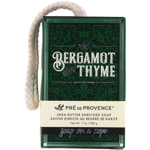 Pre de Provence, Soap On A Rope, Bergamot & Thyme, 7 oz (200 g)
