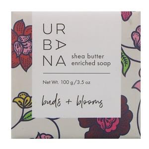 Европеан Соапс, Urbana, Shea Butter Enriched Soap, Buds + Blooms, 3.5 oz (100 g) отзывы