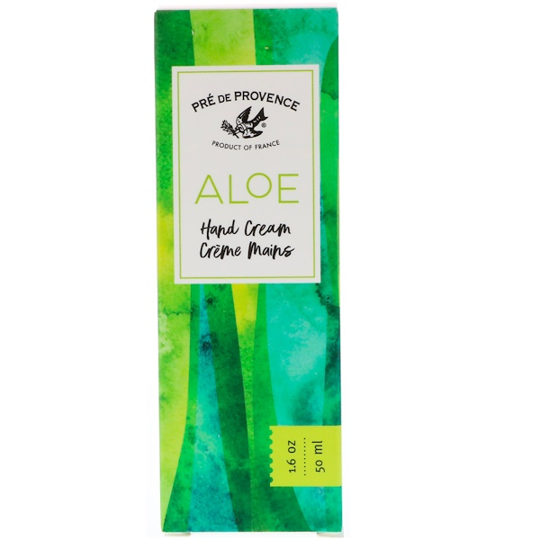 European Soaps, Pre de Provence, Aloe Hand Cream, 1.6 oz (50 ml) (Discontinued Item)