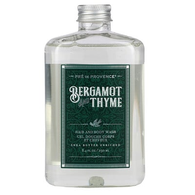 European Soaps Hair And Body Wash, Bergamot and Thyme, 8.4 fl oz (250 ml)